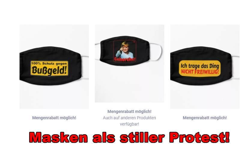 COVID / CORONA: MASKEN ALS STILLER PROTEST!